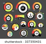 speedometer icons or circular... | Shutterstock .eps vector #337350431