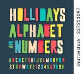 holidays alphabet and numbers ... | Shutterstock .eps vector #337351097