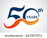 template logo 50th anniversary... | Shutterstock .eps vector #337357571