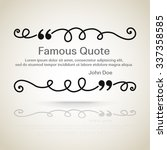 quote vector border | Shutterstock .eps vector #337358585