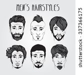 different men's style haircuts... | Shutterstock .eps vector #337366175