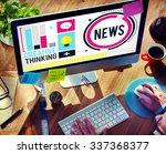 news media global communication ...   Shutterstock . vector #337368377
