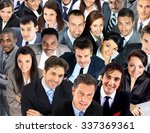large group of business people. ... | Shutterstock . vector #337369361