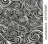 seamless sea hand drawn pattern ... | Shutterstock .eps vector #337370387