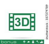 3d movie icon | Shutterstock .eps vector #337379789