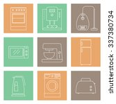 household appliances vector... | Shutterstock .eps vector #337380734