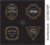 luxury logos set template... | Shutterstock .eps vector #337382489