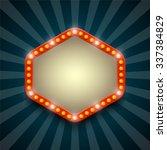 retro light frame. vector... | Shutterstock .eps vector #337384829