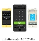 modern smartphones with...