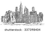 hand drawn city | Shutterstock .eps vector #337398404