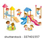 children playing in the... | Shutterstock .eps vector #337401557