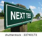 Next Tee Golf Sign