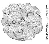 black and white circle wave... | Shutterstock .eps vector #337403495