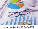 business plan graphics pen cup... | Shutterstock . vector #337406171