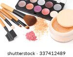 brush and cosmetic set ... | Shutterstock . vector #337412489