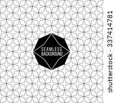 monochrome seamless fashion... | Shutterstock .eps vector #337414781