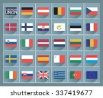 flags of european union with... | Shutterstock .eps vector #337419677