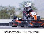 young man go kart pilot is... | Shutterstock . vector #337423901