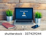 privacy settings web page in a... | Shutterstock . vector #337429244