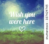 vector postcard with... | Shutterstock .eps vector #337429745