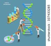 genetic engineering isometric... | Shutterstock .eps vector #337433285