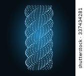 blue spiral | Shutterstock .eps vector #337434281