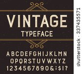 vintage alphabet font with... | Shutterstock .eps vector #337435571
