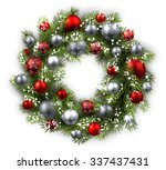 white card with christmas... | Shutterstock .eps vector #337437431