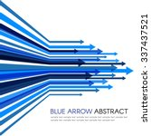 blue arrow line sharp vector... | Shutterstock .eps vector #337437521
