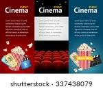 realistic cinema movie poster... | Shutterstock . vector #337438079