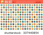 vol 1. flat big collection set... | Shutterstock .eps vector #337440854