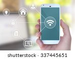 modern mobile smart phone... | Shutterstock . vector #337445651