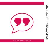 quote sign icon | Shutterstock .eps vector #337448285