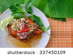 famous thai food  grilled... | Shutterstock . vector #337450109