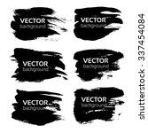 textured big black strokes... | Shutterstock .eps vector #337454084