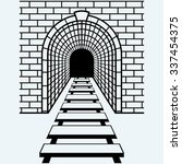 Railway Tunnel. Isolated On...