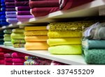 rolls of fabric and textiles in ...