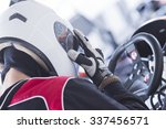 back view of a concentrated... | Shutterstock . vector #337456571