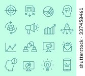 marketing icons  thin line style | Shutterstock .eps vector #337458461