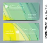 stylish business cards with... | Shutterstock .eps vector #337460411