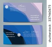 stylish business cards with... | Shutterstock .eps vector #337460675