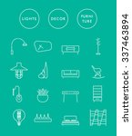 collection of 16 linear icons... | Shutterstock .eps vector #337463894