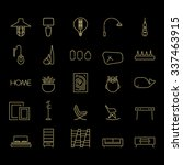 collection of 25 linear icons... | Shutterstock .eps vector #337463915