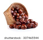 Chestnuts Isolated On White...