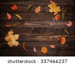 colorful autumn leaves on a... | Shutterstock . vector #337466237