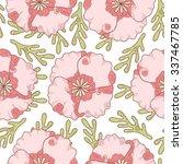 abstract flower seamless...   Shutterstock .eps vector #337467785