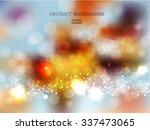 abstract golden holiday... | Shutterstock .eps vector #337473065