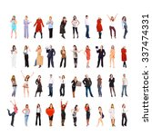 people diversity united... | Shutterstock . vector #337474331
