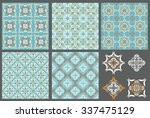 set of 5  patterns  and tile... | Shutterstock .eps vector #337475129