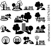 park  vector icons set on gray | Shutterstock .eps vector #337476194